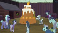 McColts looking at the Hooffields' cake S5E23