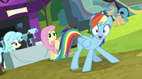 "Rainbow Dash double-take ""wait!"" S4E22"
