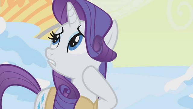 "File:Rarity ""Maybe birds can use it as a..."" S1E11.png"