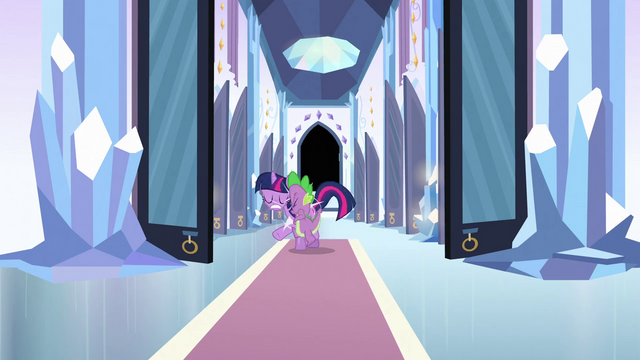 File:Spike bumping into Twilight S3E2.png