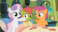 Sweetie Belle Apple Bloom sick S2E12
