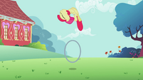 Apple Bloom performs tricks with her hoop S2E06