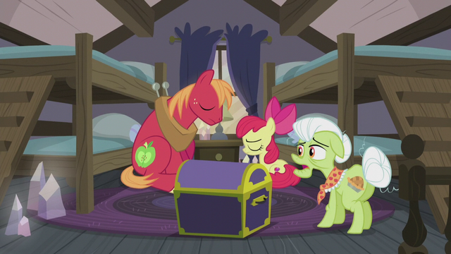 "File:Granny Smith ""has anypony seen Applejack?"" S5E20.png"