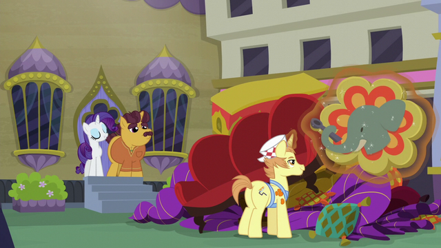 File:Rarity and Coriander see sign get hauled away S6E12.png