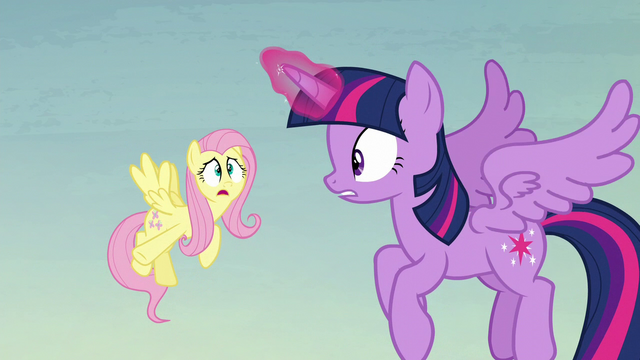 """File:Fluttershy """"where the flying pumpkins are coming from"""" S5E23.png"""