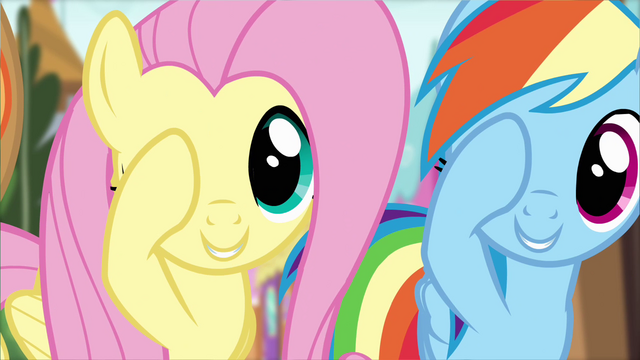 File:Fluttershy and Rainbow Dash doing the Pinkie promise S4E01.png