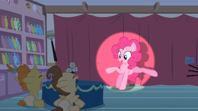 File:Pinkie Pie kicks stuff away S2E13.png