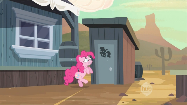 File:Pinkie Pie waiting at the outhouse S2E14.png
