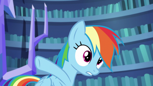 File:Rainbow Dash pointing outside S5E21.png