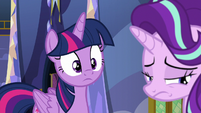 Twilight Changeling looking at sad Starlight S6E25