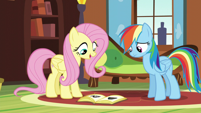 File:Fluttershy explaining hibernation to Rainbow S5E5.png