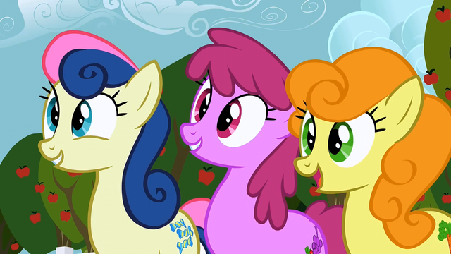 File:Sweetie Drops, Berryshine, and Golden Harvest impressed S2E15.png