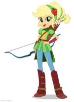 Friendship Games Applejack Sporty Style artwork