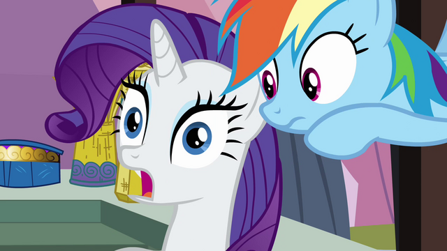 File:Rarity shocked by Rainbow's news S3E2.png