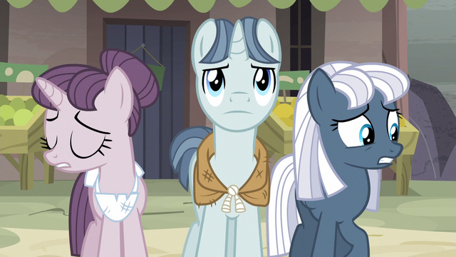 File:Sugar Belle and Night Glider nervous while Party Favor determined S5E02.png