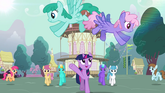 "File:Twilight ""morning in Ponyville shines"" S03E13.png"