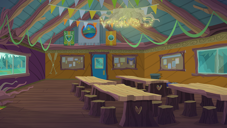 Image legend of everfree background asset camp for Activity room