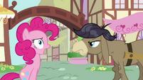 Pinkie gasps at Cranky Doodle Donkey's name S02E18