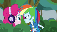 Rainbow Dash berating Pinkie Pie EG3