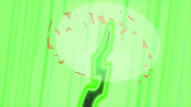 File:Chrysalis' horn appears and vaporizes AJ's hat S5E26.png