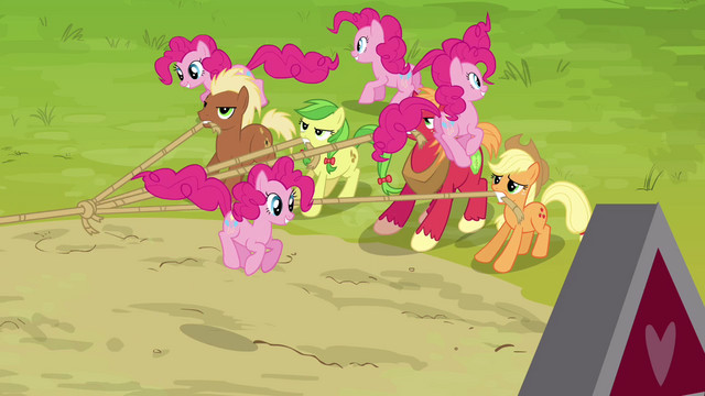 File:Pinkie Pie clones surrounding the ponies S3E03.png