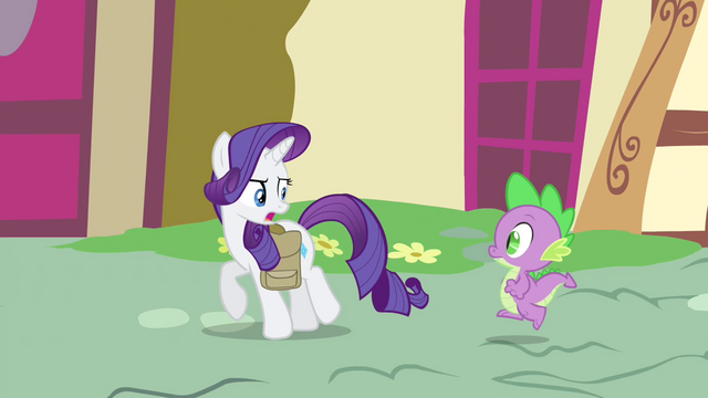 "File:Rarity ""No time for breakfast!"" S4E23.png"