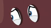 Rarity nervously looking left S6E5