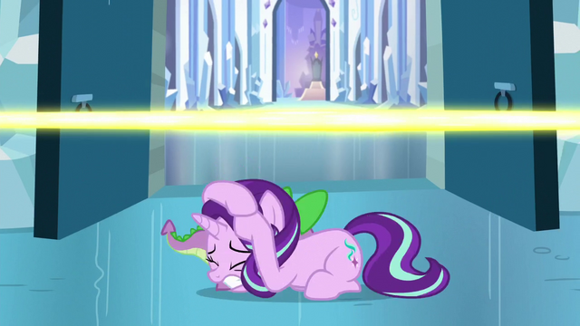 File:Starlight and Spike avoids the magic beam S6E2.png