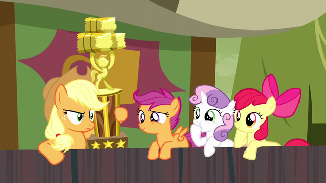 File:Cutie Mark Crusaders ignoring Applejack S5E6.png