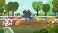 Dr. Hooves frees his cart from the mud S6E19.png