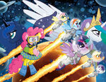 My little pony 21 & friends forever 7 jetpack covers combined by tonyfleecs