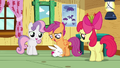 Angel hugging Scootaloo's legs S3E11.png