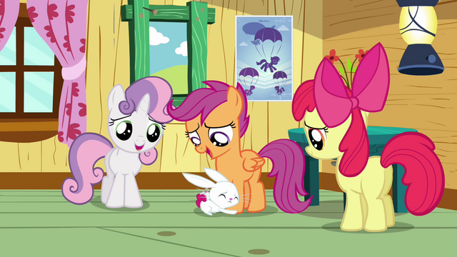 File:Angel hugging Scootaloo's legs S3E11.png