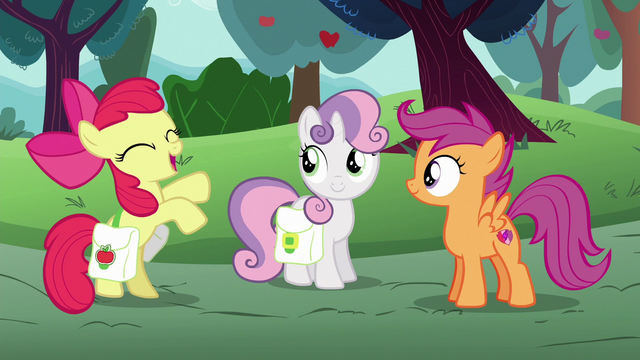"File:Apple Bloom ""can't wait to tell Applejack"" S6E14.png"