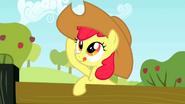 Apple Bloom wearing Applejack's hat 3 S2E14