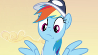 Rainbow Dash looking worried S2E22
