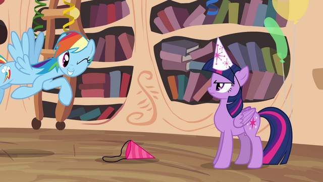 File:Rainbow winking to Twilight S4E04.png