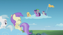 Twilight and Spike wonder what this means S5E25