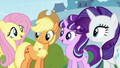 AJ, Starlight, and Rarity see Pinkie S5E26.png
