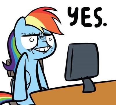 File:FANMADE Rainbow Dash Yes.jpg