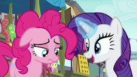 "Rarity ""how did it go?"" S6E3"