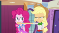 Applejack covers Pinkie's mouth EG.png