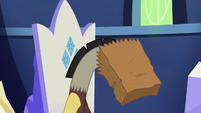 Discord hangs his head in shame S6E17
