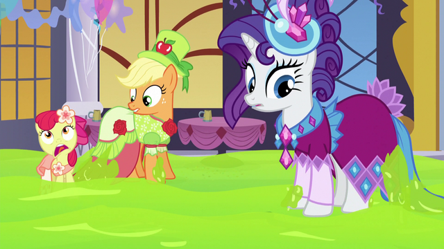 File:AJ, Apple Bloom, and Rarity not stuck anymore S5E7.png