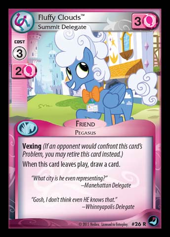 File:Fluffy Clouds, Summit Delegate card MLP CCG.jpg