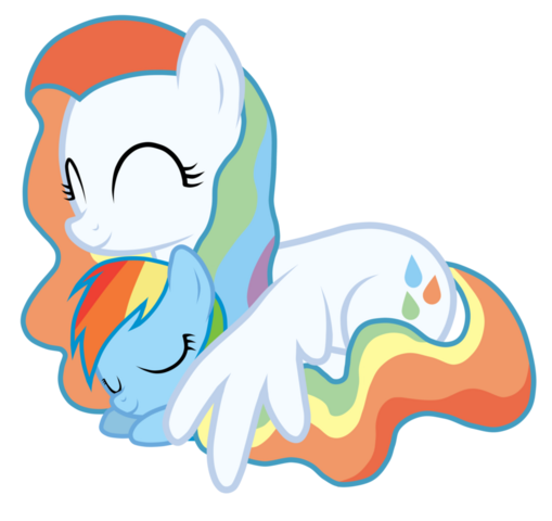 File:FANMADE Rainbow Dash with mother.png