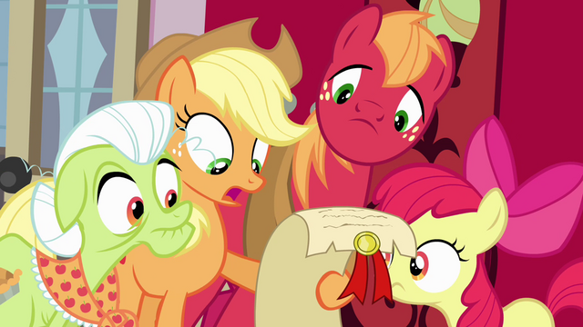 File:Apple family looking at scroll S4E09.png
