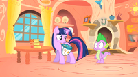Spike hears about Owlowiscious S1E24