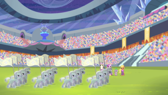 File:Equestria Games golden Crystal Empire flags S04E24.png