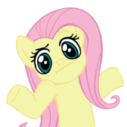 File:FANMADE Fluttershy Shrugging.png